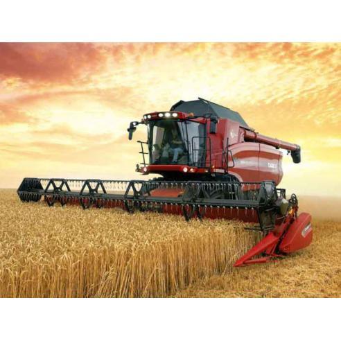 Manual de serviço da colheitadeira Case Ih AXIAL-FLOW 7120, 8120, 9120 - Case IH manuais
