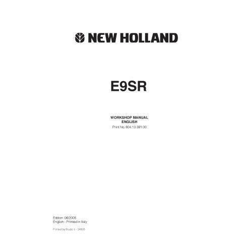 Workshop manual for New Holland E9SR mini excavator-New Holland