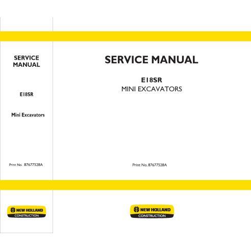 Manuel d'entretien de la mini-pelle New Holland E18SR - Construction New Holland manuels