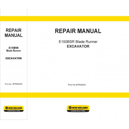 Manuel de réparation de la pelle New Holland E150BSR - Construction New Holland manuels
