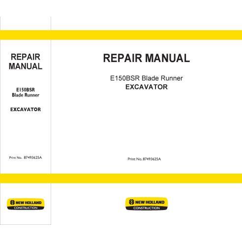 New Holland E150BSR excavator repair manual - New Holland Construction manuals