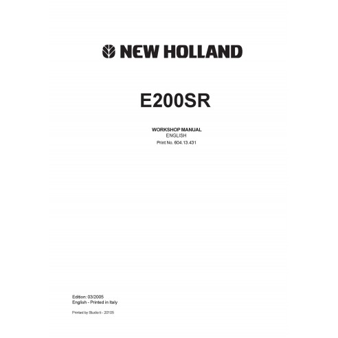 Workshop manual for New Holland E200SR excavator