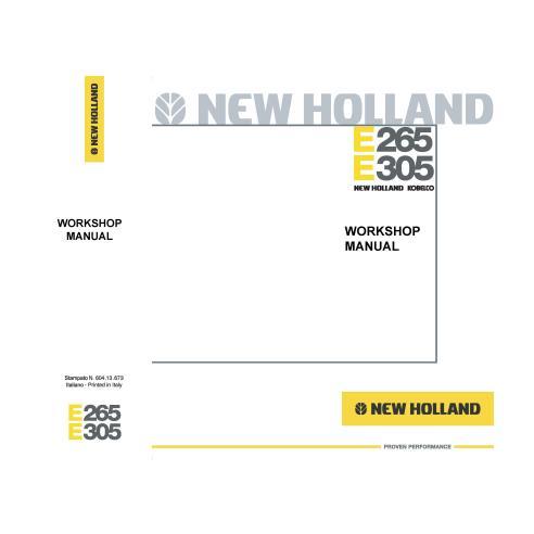Manuel d'atelier pour pelles New Holland E265, E305 - Construction New Holland manuels