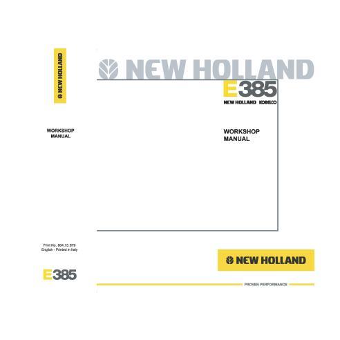 Manual de oficina da escavadeira New Holland E385 - New Holland Construction manuais