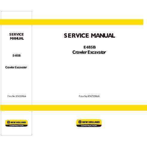 New Holland E485B excavator service manual - New Holland Construction manuals