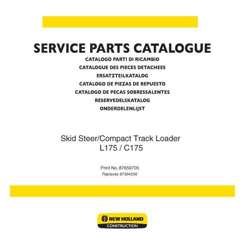 Parts catalog for New Holland L175, C175 skid loader