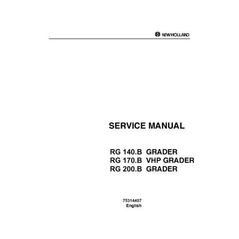 Manual de servicio de la motoniveladora New Holland RG 140-200 B - Construcción New Holland manuales
