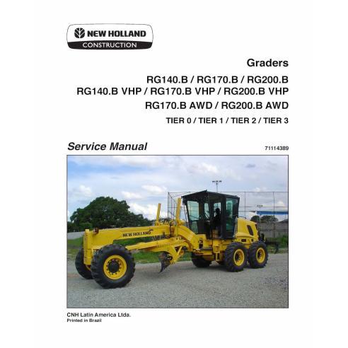 Manuel d'entretien de la niveleuse New Holland RG140.B - RG200.B - Construction New Holland manuels