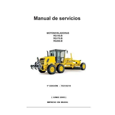 Manual de serviço da motoniveladora New Holland RG140.B - RG200.B - New Holland Construction manuais