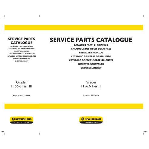Catalogue de pièces de niveleuse New Holland F156.6 - Construction New Holland manuels