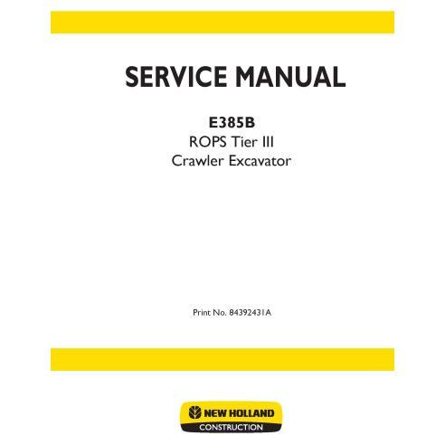 Manual de servicio de la excavadora New Holland E385B - Construcción New Holland manuales