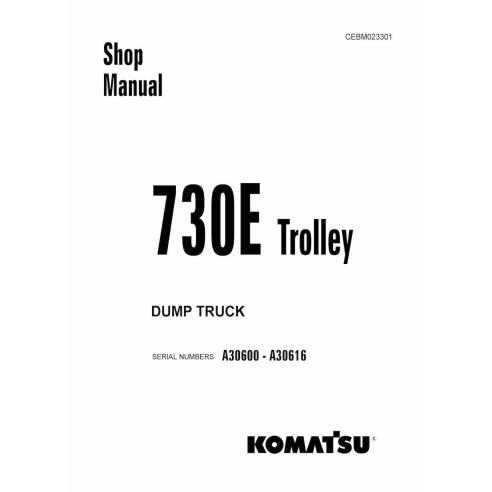 Manual de taller del camión volquete con trole Komatsu 730E - Komatsu manuales
