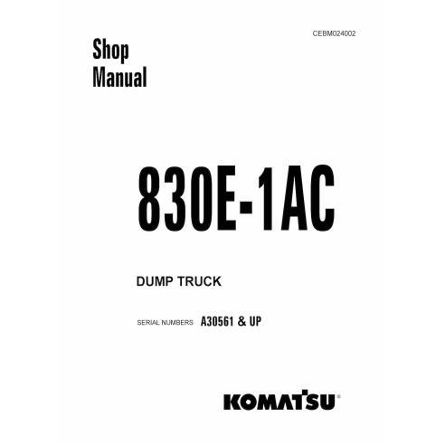 Manual de taller del camión volquete Komatsu 830E-1AC - Komatsu manuales