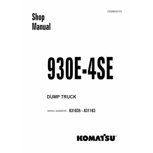 Shop manual for Komatsu 930E-4SE dump truck