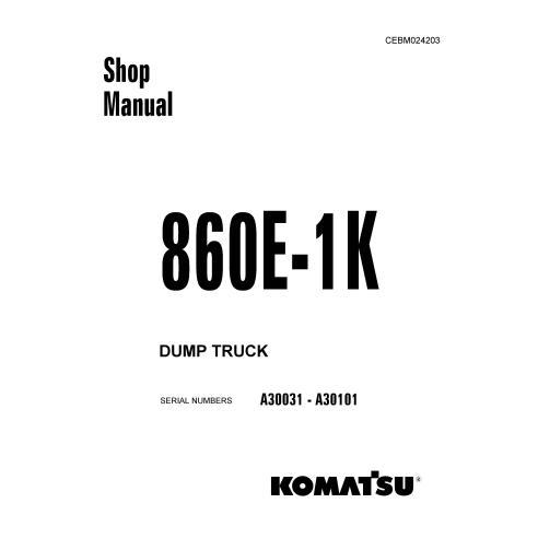 Manuel d'atelier du camion à benne basculante Komatsu 860E-1K - Komatsu manuels