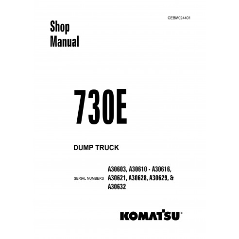 Shop manual for Komatsu 730E dump truck