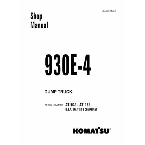 Manual de taller del camión volquete Komatsu 930E-4 - Komatsu manuales