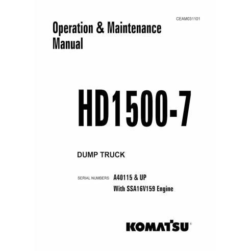 Manual de operação e manutenção de caminhão basculante Komatsu HD1500-7 - Komatsu manuais