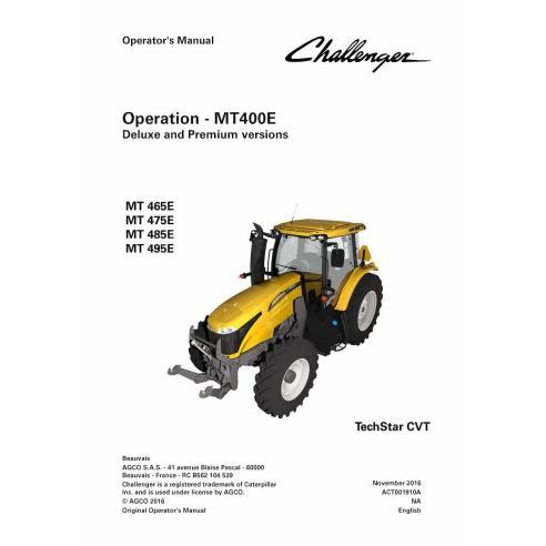 Manual do operador do trator Challenger MT400E - Challenger manuais