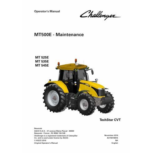 Manual del operador del tractor Challenger MT500E - Challenger manuales
