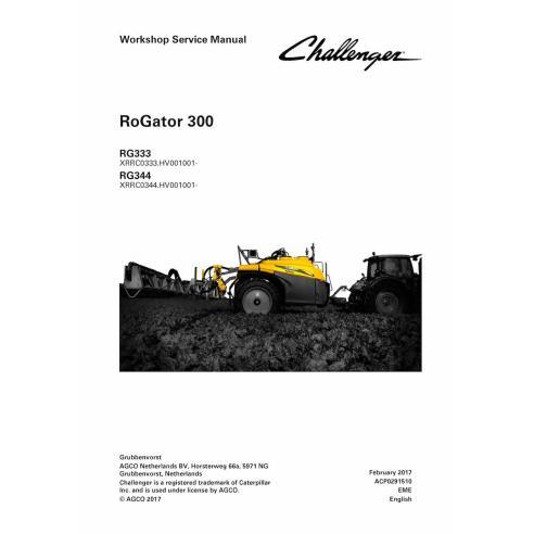 Manuel d'entretien de l'atelier du système liquide Challenger RoGator 300 - Challenger manuels