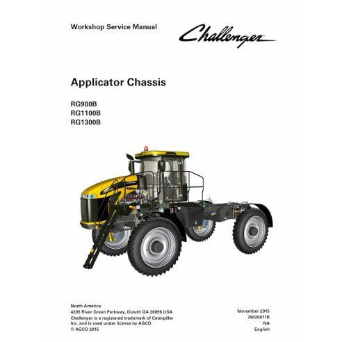 Manual de servicio del taller del chasis del aplicador Challenger RG900B, RG1100B, RG1300B - Challenger manuales