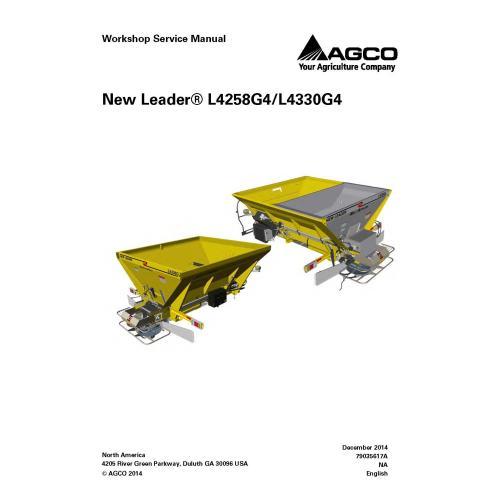 Nouveau manuel d'entretien de l'atelier du système d'application Leader L4258G4 / L4330G4 - New Leader manuels