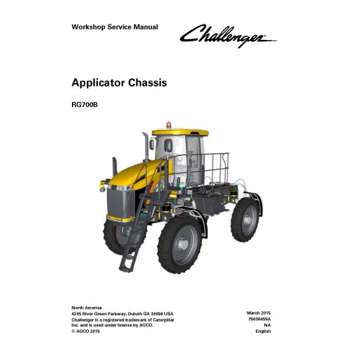 Challenger RG700B applicator chassis workshop service manual