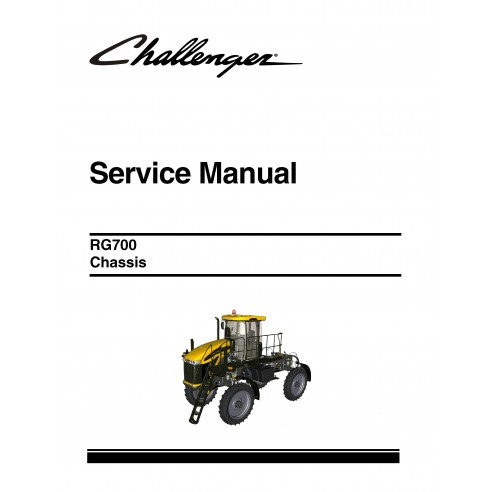 Challenger RG700 applicator chassis service manual - Challenger manuals