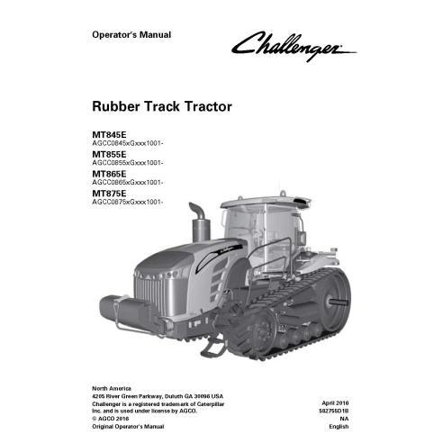 Challenger MT845E / MT855E / MT865E / MT875E tractor operator's manual - Challenger manuals